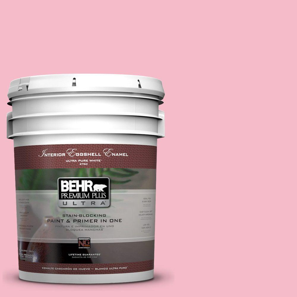 5-gal. #120C-2 Pink Punch Eggshell Enamel Interior Paint