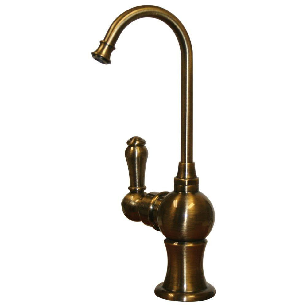 Whitehaus Collection Forever Hot Single-Handle Instant Hot Water Dispenser in Antique Brass