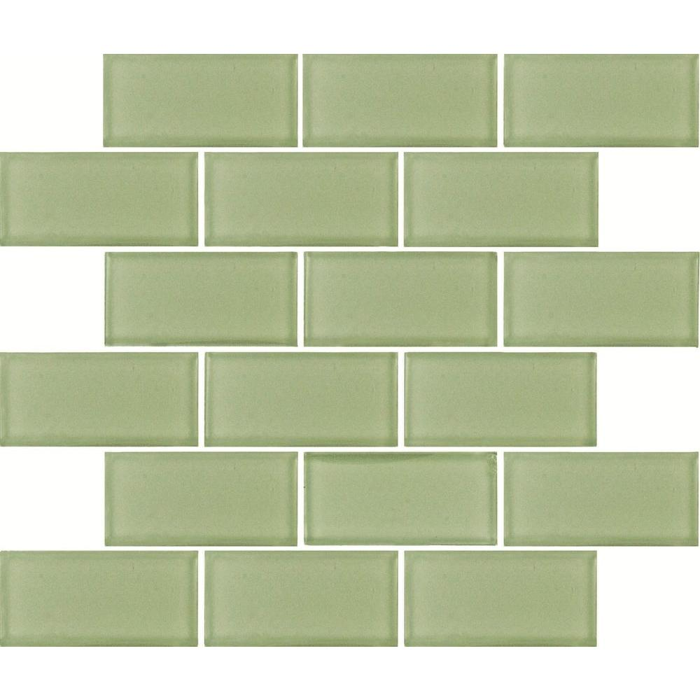Green Subway Tile Kitchen: MS International Mint Green Subway 12 In. X 12 In. X 8 Mm