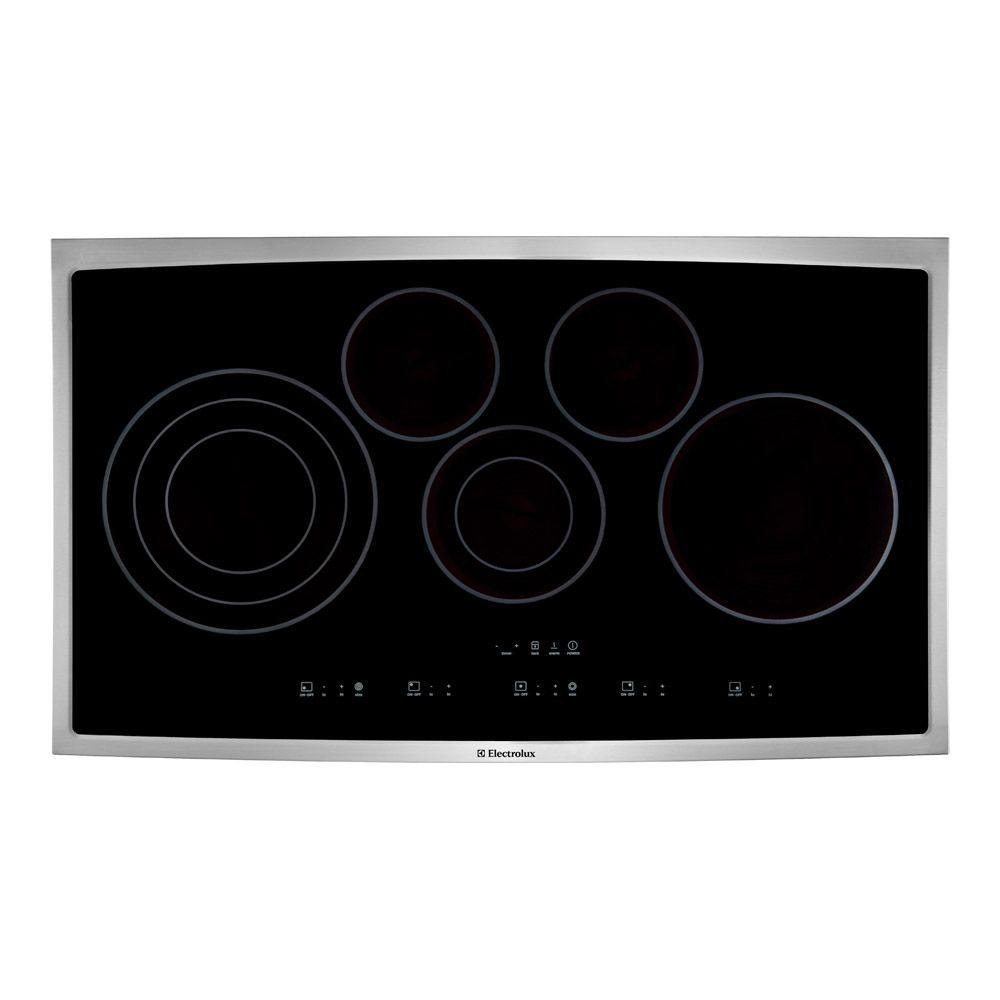 36 in. Smooth Surface Electric Cooktop in Stainless Steel with 5