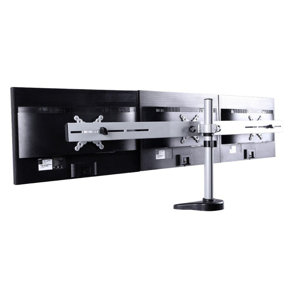 Fleximounts Triple Monitor Arm Desk Mounts Lcd Stand For