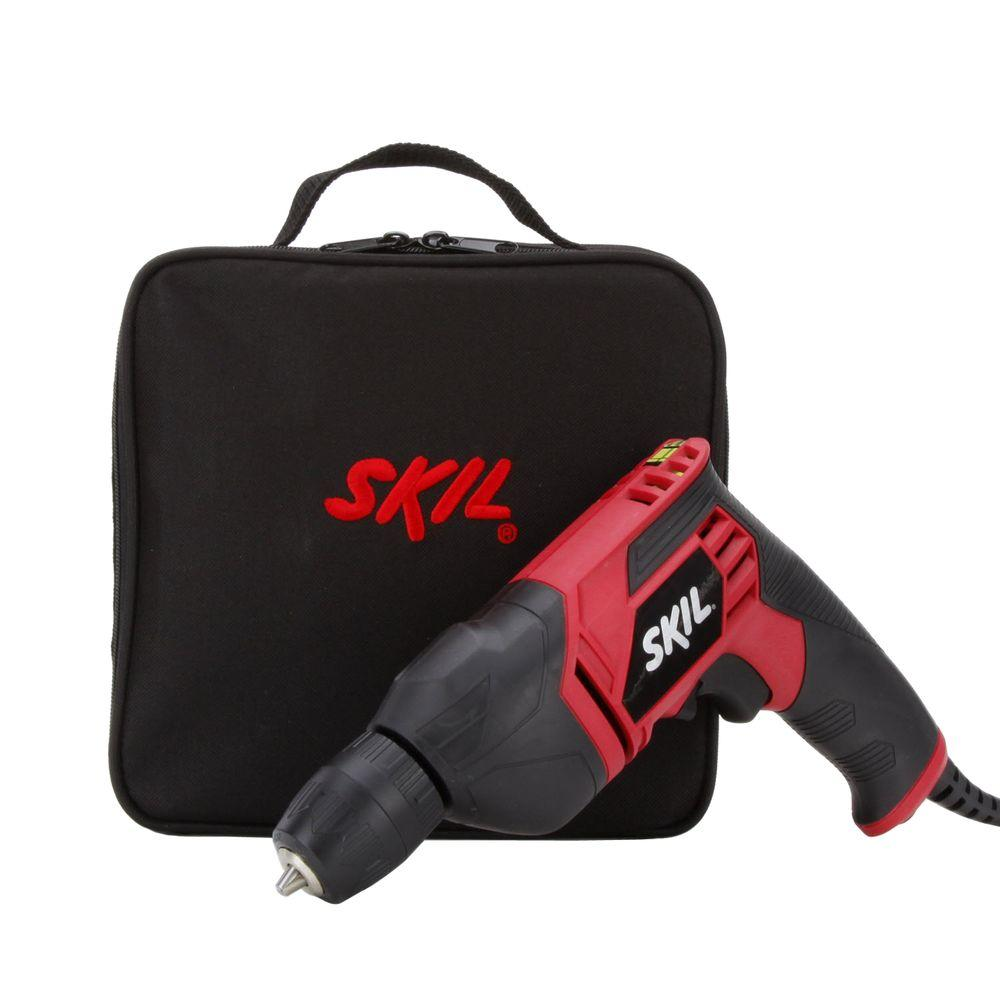 Skil 6.5 Amp Corded Electric 3/8 in. Variable Speed Drill/Driver with Carrying Case
