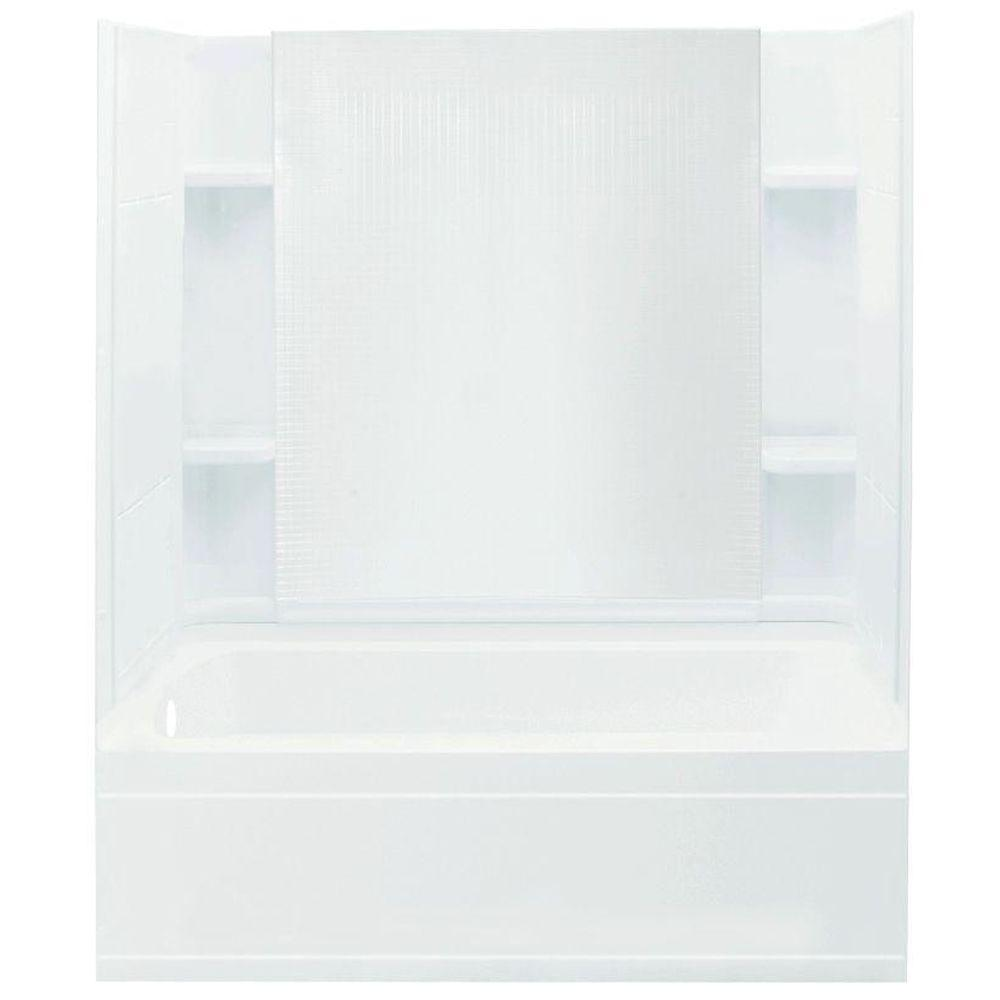STERLING Accord 32 in. x 60 in. x 74 in. Bath and Shower Kit with Left-Hand Drain in White
