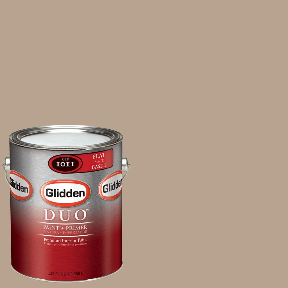 Glidden DUO Martha Stewart Living 1-gal. #MSL217-01F Natural Twine Flat Interior Paint with Primer-DISCONTINUED