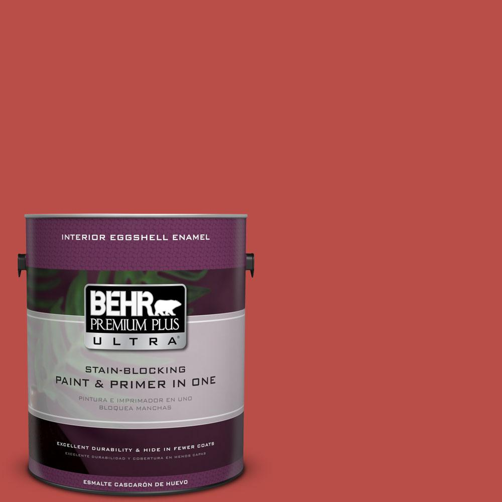 BEHR Premium Plus Ultra Home Decorators Collection 1-gal. #HDC-MD-16 Cherry Red Eggshell Enamel Interior Paint