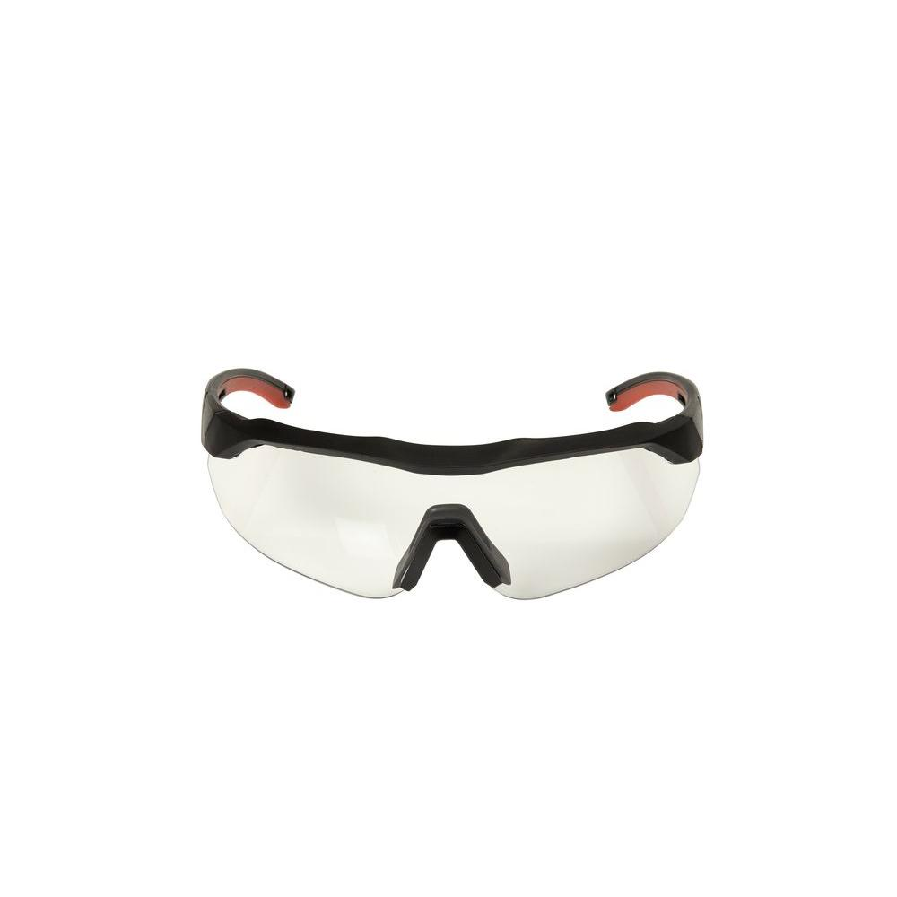 3M Accent Frame and Clear Anti-Fog Lens Black Performance Safety Eyewear Glasses with Aerodynamic Design