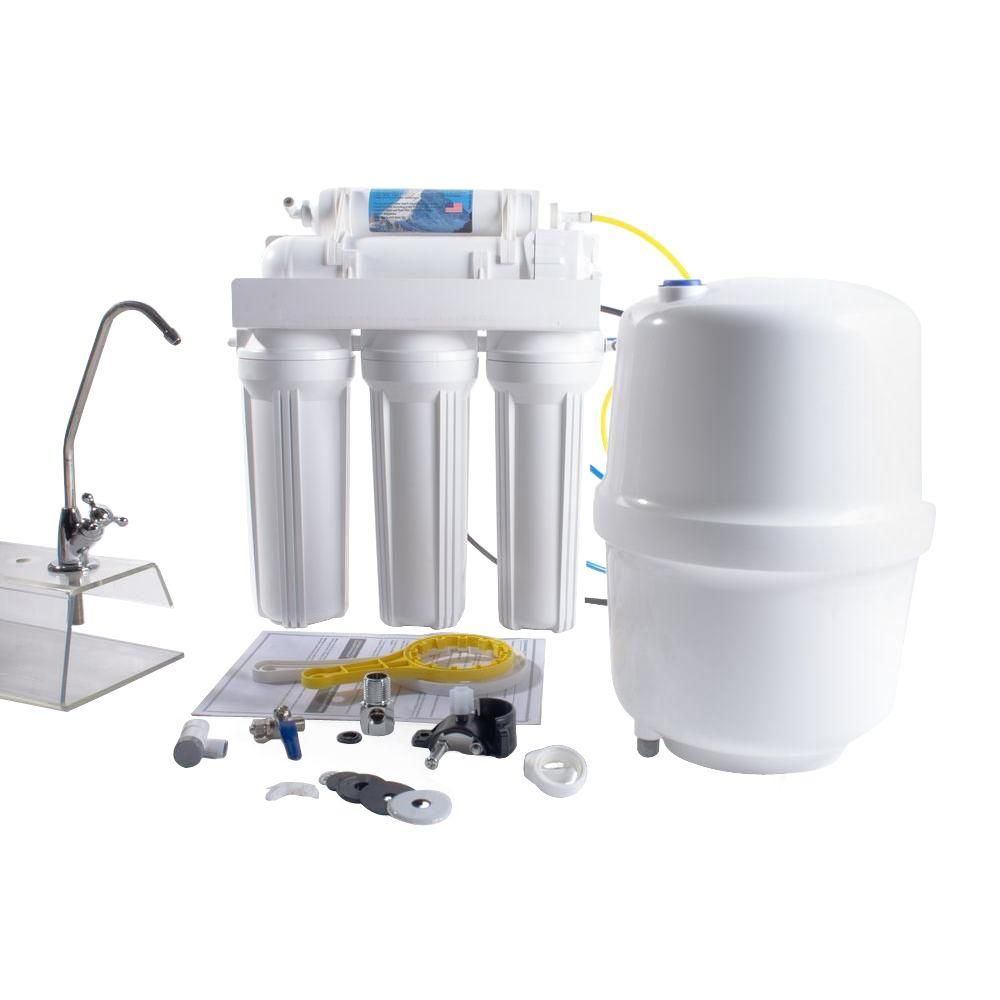 5-Stage Under-Sink Reverse Osmosis Water Filtration Syste...