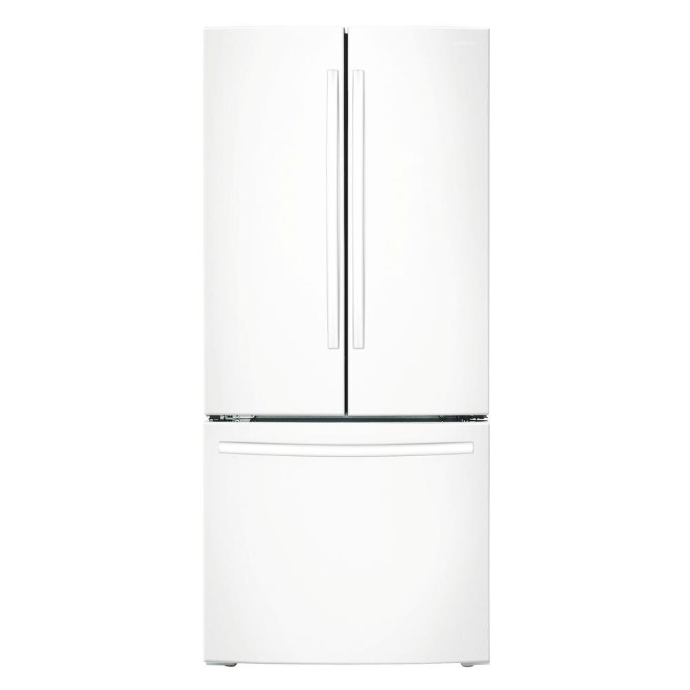 samsung 22 3 cu ft side by side refrigerator in white counter depth rs22hdhpnww the home depot. Black Bedroom Furniture Sets. Home Design Ideas