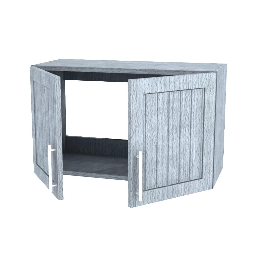 Assembled 30x15x12 in. Naples Open Back Outdoor Kitchen Wall Cabinet with