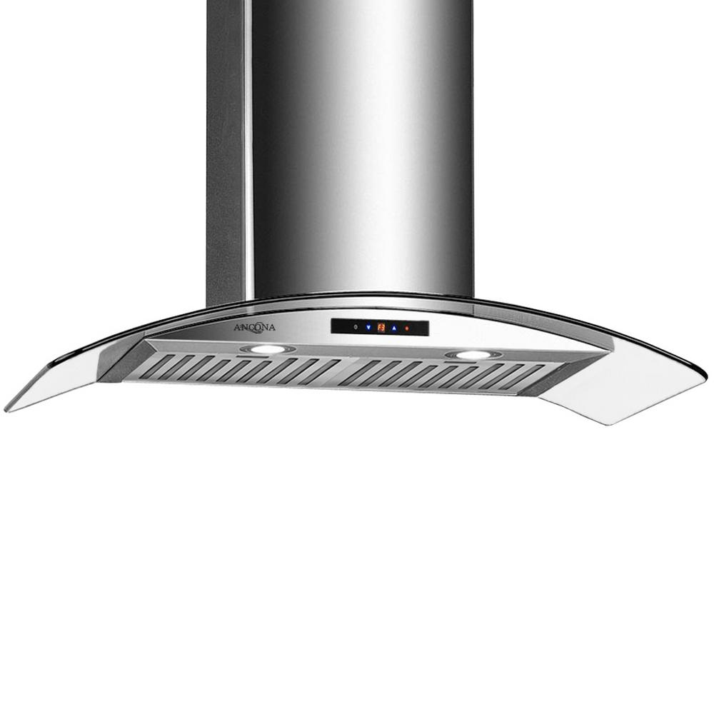 36 in. 500 CFM Convertible Wall-Mounted Range Hood with LED Lights