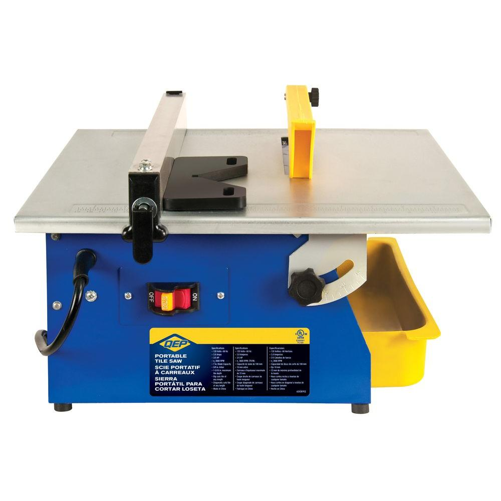 QEP Master Cut 3/5 HP Wet Tile Saw with 7 in. Diamond Blade for Ceramic Tile