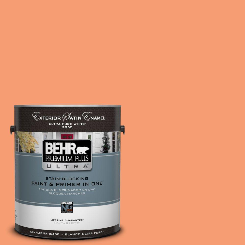 Interior Paint, Exterior Paint & Paint Samples: BEHR Premium Plus Ultra Paint 1-gal. #P200-5 Burning Coals Satin Enamel Exterior Paint 985401