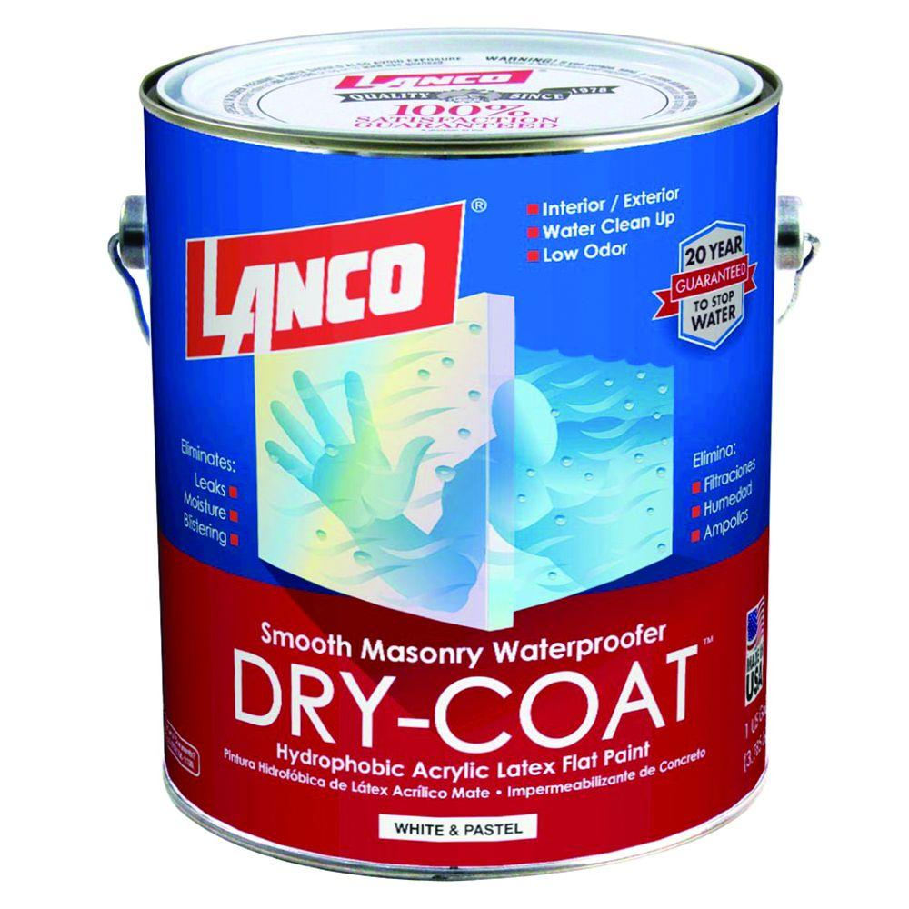 Lanco Dry-Coat 1 Gal. Flat Latex Accent Base Waterproofing Paint-DC479-4 -