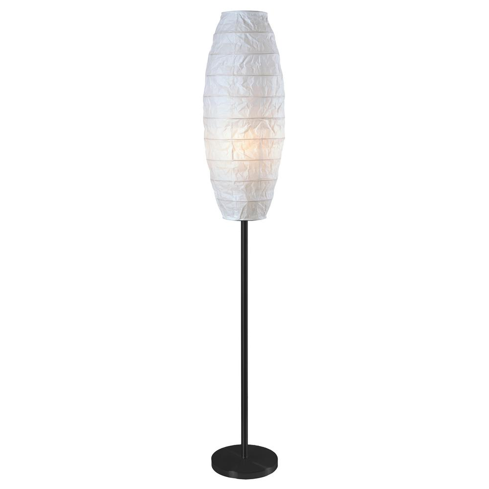 McClure 59 in. Floor Lamp with White Collapsible Paper Shade