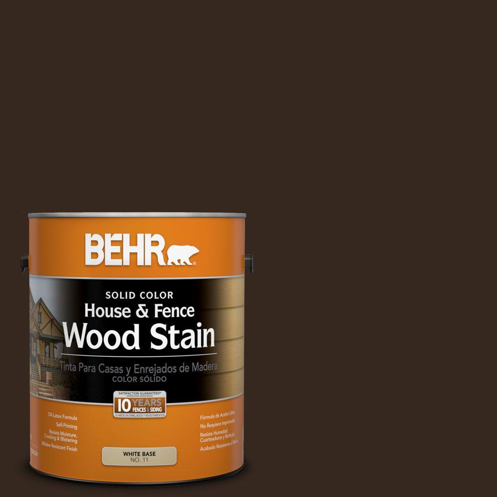 Behr 1 Gal Sc 105 Padre Brown Solid Color House And