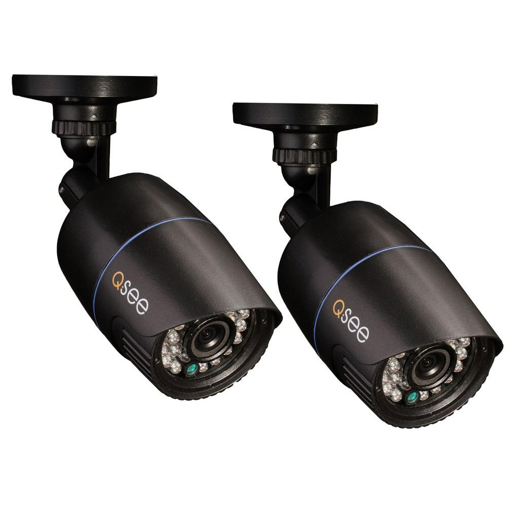 Q-SEE Premium Series Wired 960H Indoor/Outdoor Camera Set with 700 TVL and 100 ft. of Night Vision (2-Pack)-DISCONTINUED
