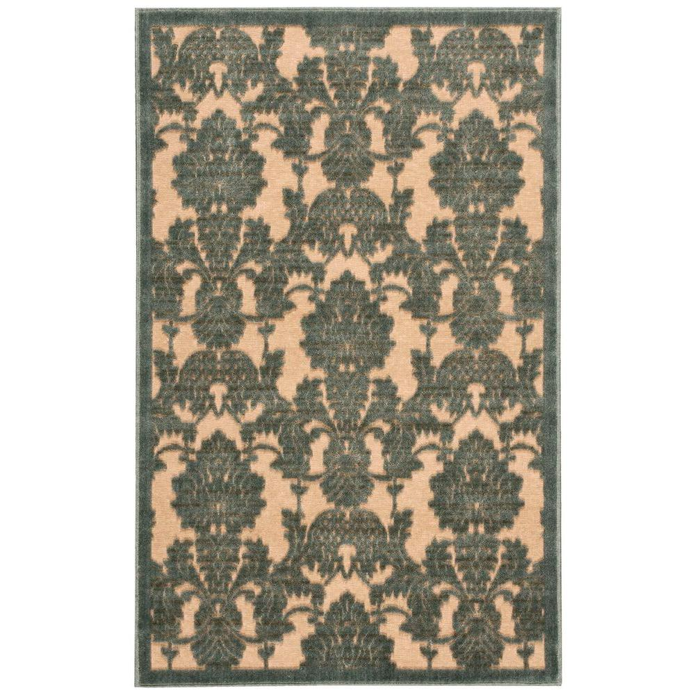 Graphic Illusions Teal (Blue) 3 ft. 6 in. x 5 ft. 6 in. Area Rug