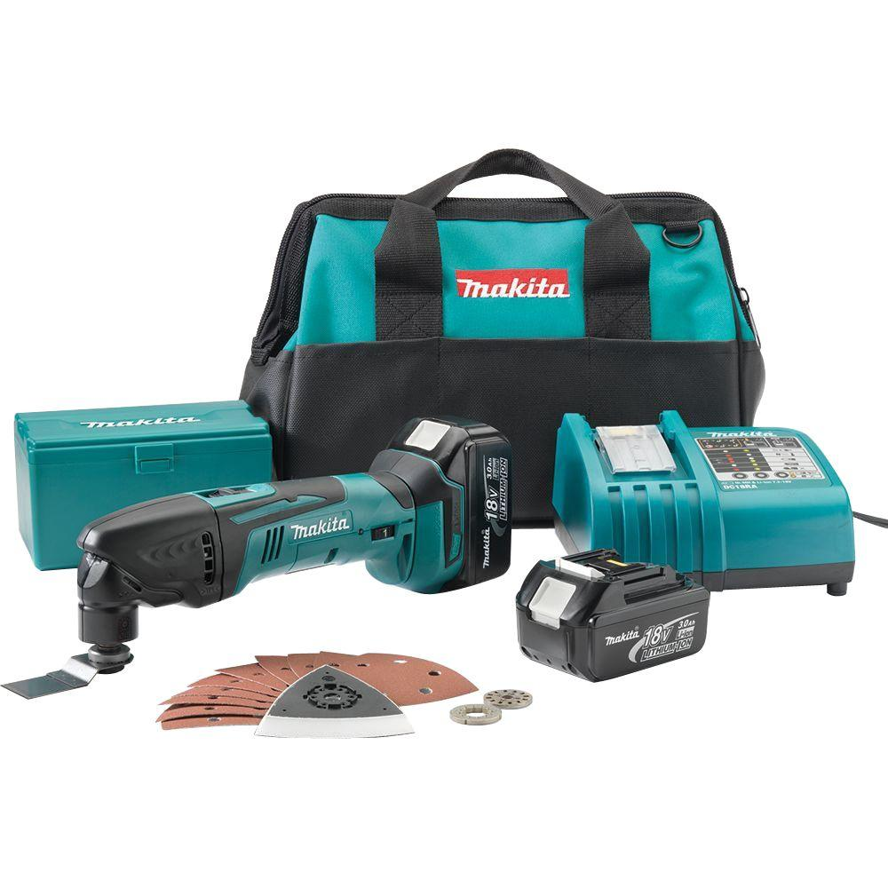 Makita 18-Volt LXT Lithium-Ion Cordless Multi-Tool Kit-LXMT025 - The Home Depot