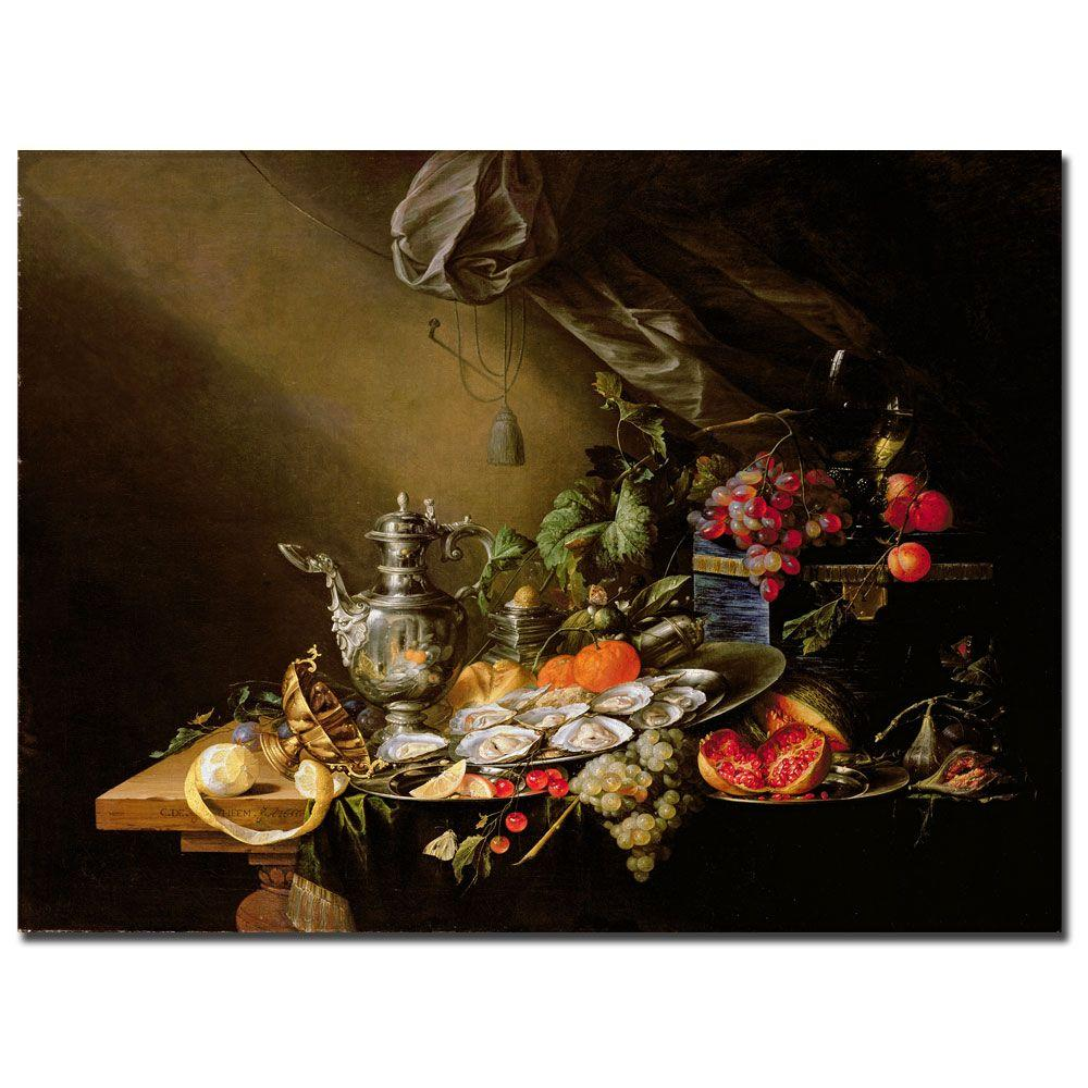 Trademark Fine Art 35 in. x 47 in. Banquet Still Life