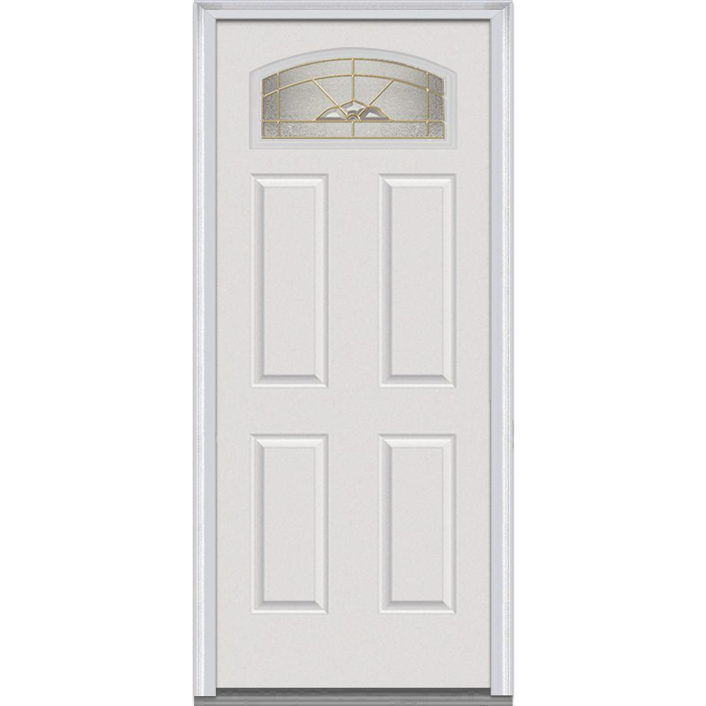 30 in. x 80 in. Master Nouveau Left-Hand 1/4 Lite 4-Panel