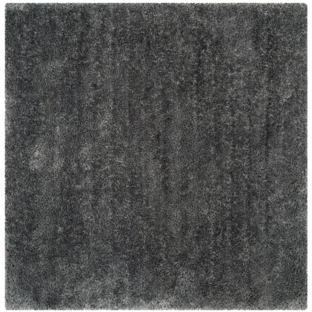 Luxe Shag Gray 6 ft. x 6 ft. Square Area Rug
