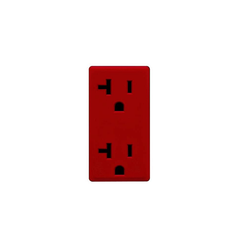 Leviton Renu 20-Amp Red Delicious Outlet Color Change Kit-DISCONTINUED