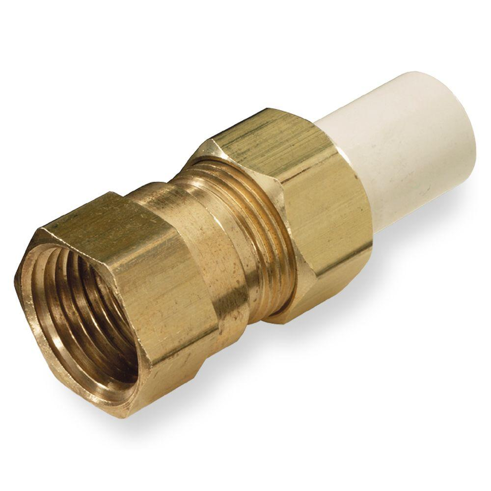 KBI 3/4 in. CPVC/Brass CTS FPT x Spigot Transition Union