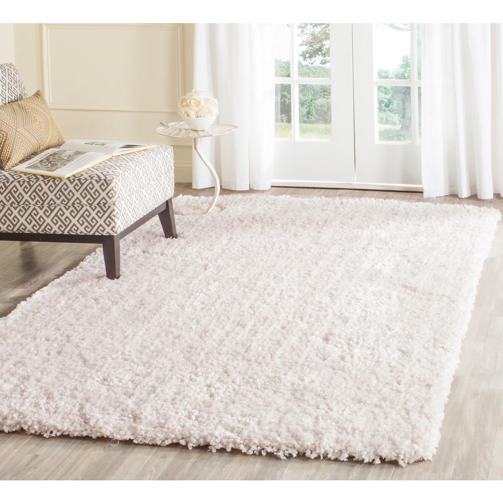 safavieh popcorn shag ivory 6 ft x 9 ft area rugsg267a6 the home depot - Shaggy Rug