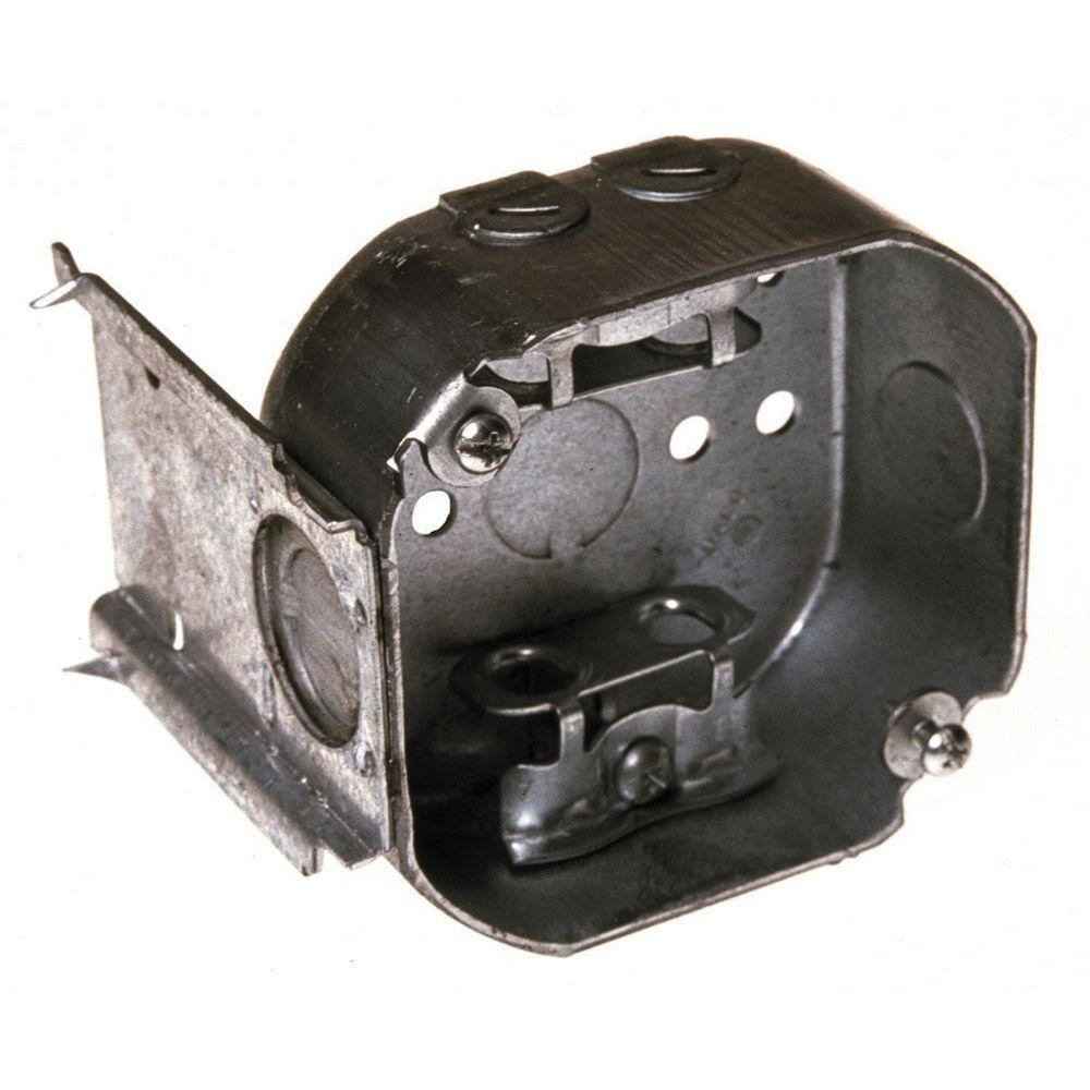 4 in. Octagon Box, 1-1/2 in. Deep with Armored Cable/Metal Clad/Flex