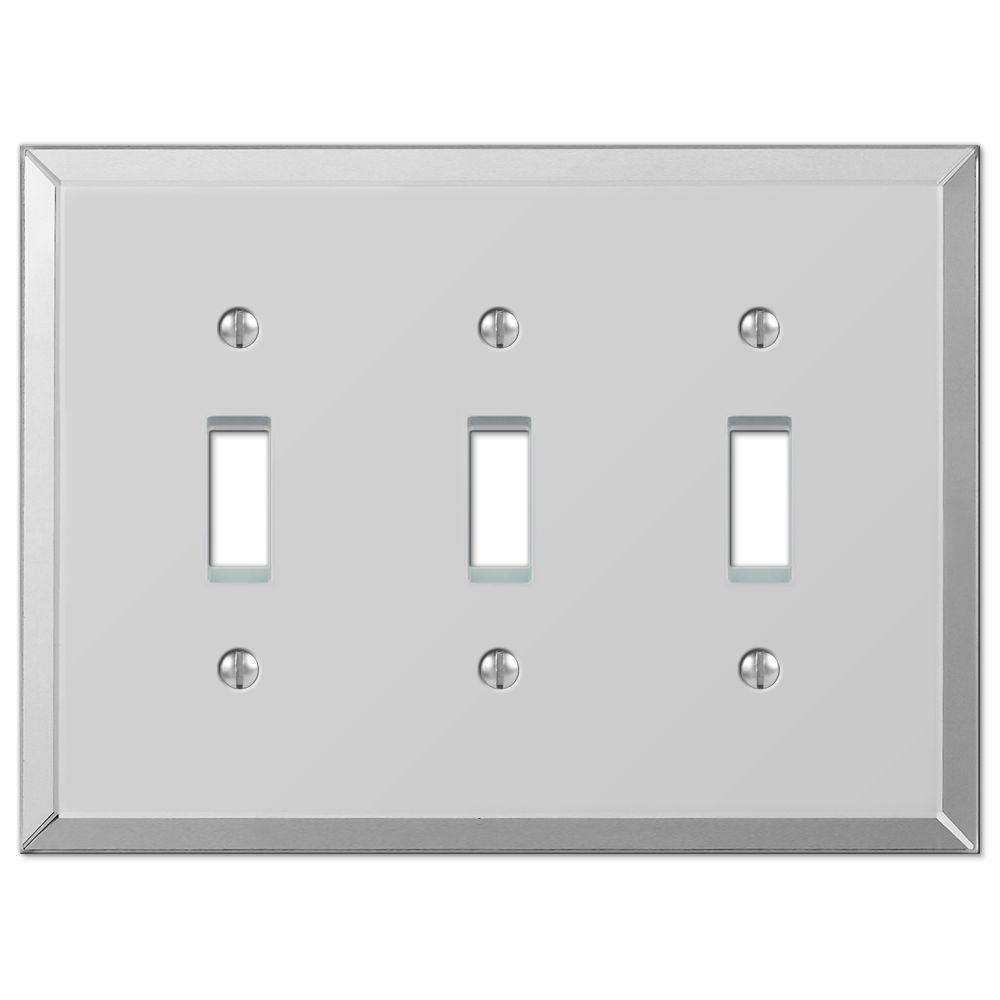 Hampton Bay Mirror 3 Toggle Wall Plate-66TTT - The Home Depot