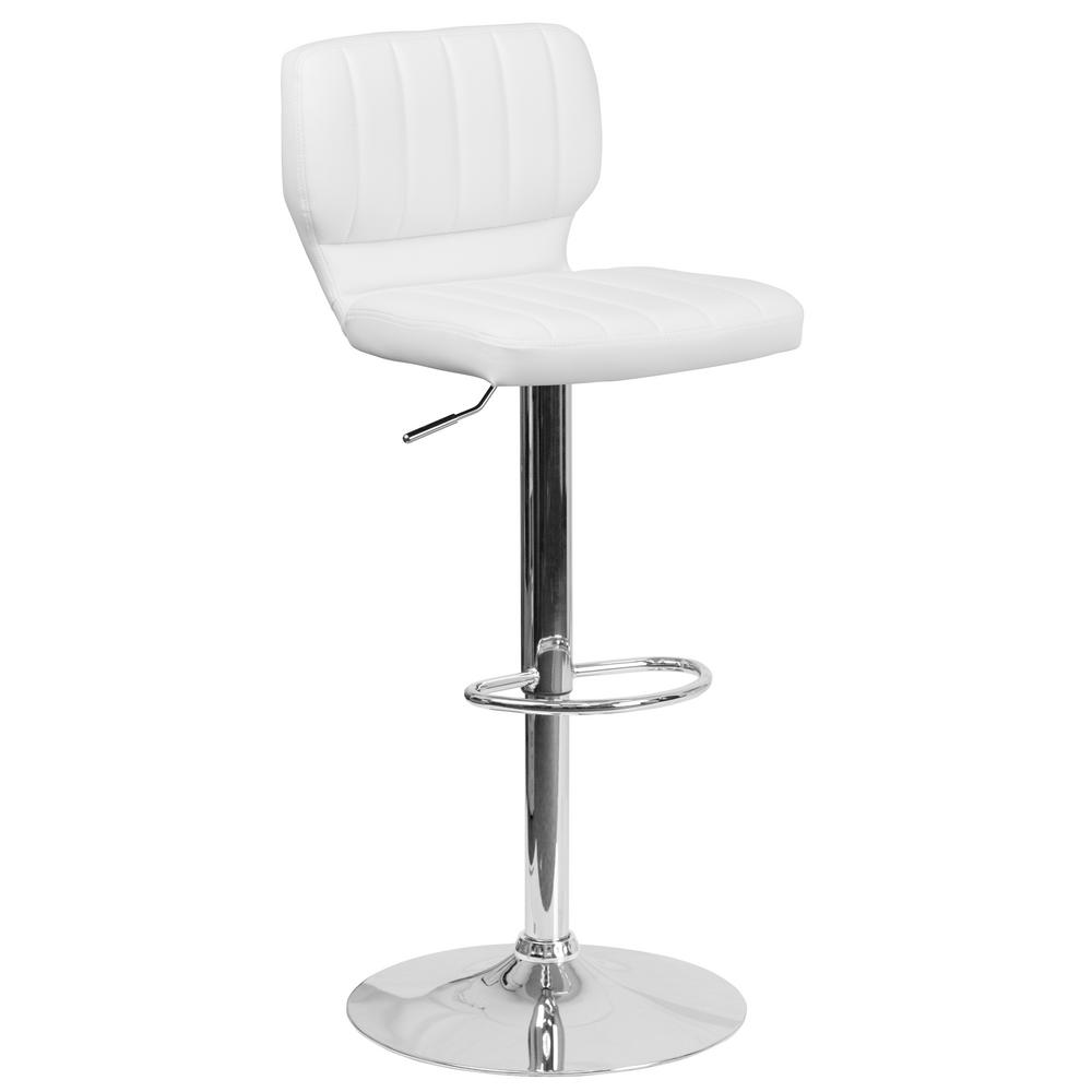 Flash Furniture Contemporary White Bar Stool-CH132330WH - The Home Depot