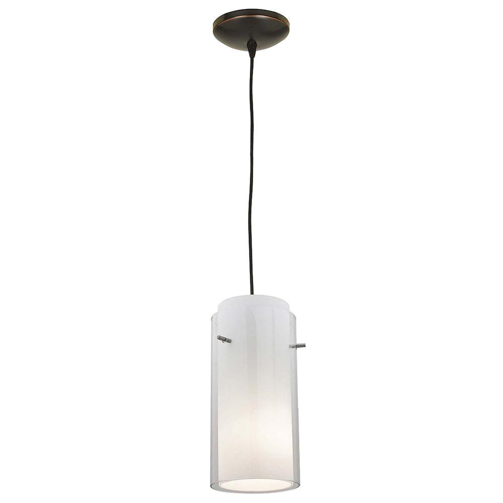 Access Lighting 1-Light Pendant Oil Rubbed Bronze Finish Clear Glass-DISCONTINUED