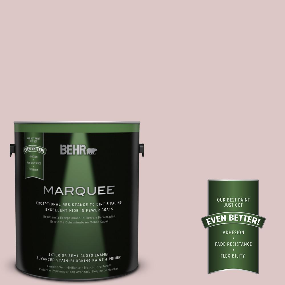1-gal. #130E-2 Fairview Taupe Semi-Gloss Enamel Exterior Paint