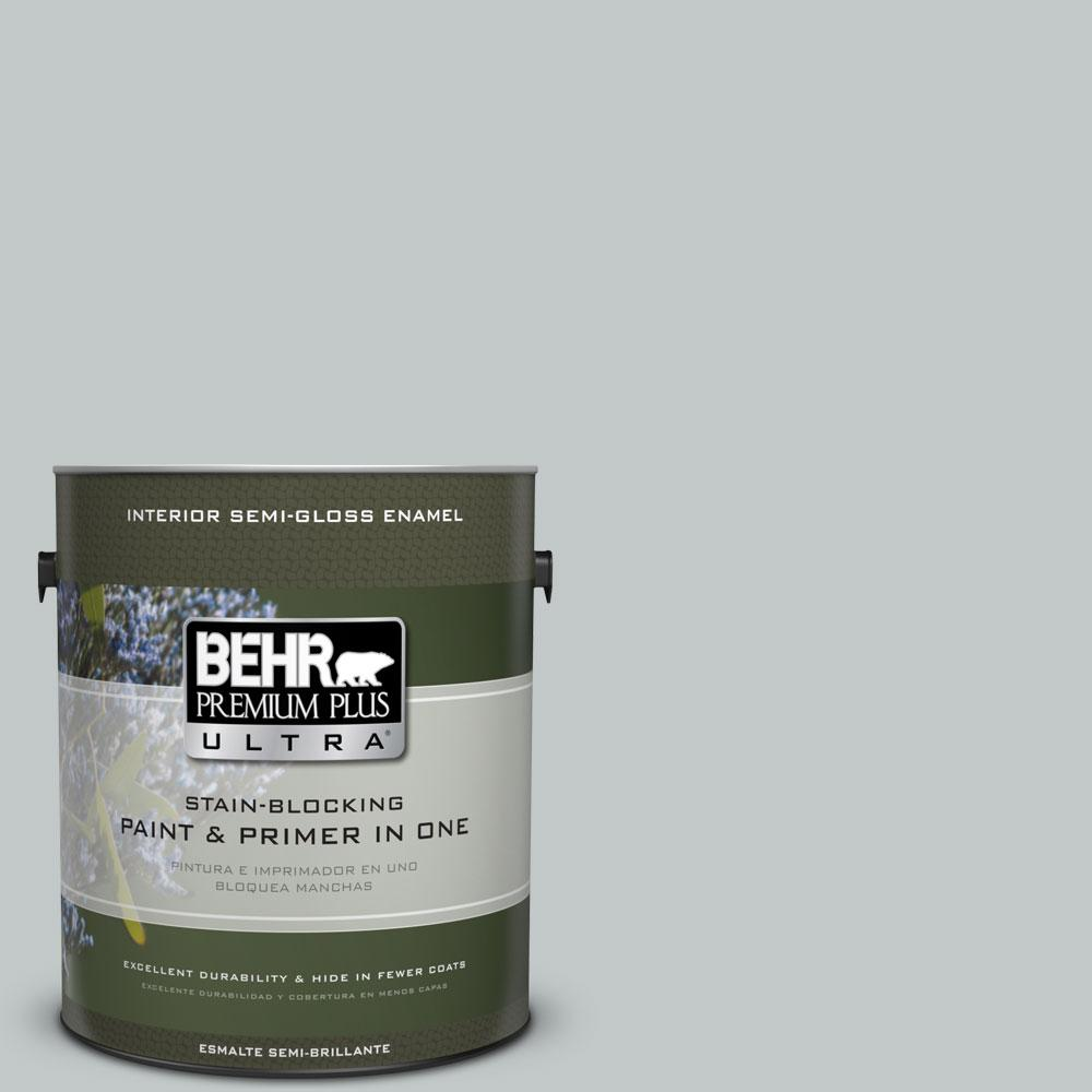 BEHR Premium Plus Ultra 1-gal. #N450-2 Zero Gravity Semi-Gloss Enamel Interior Paint