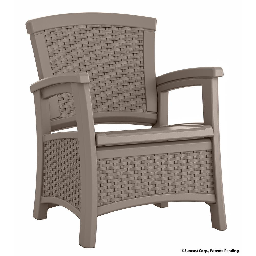 Elements Resin Outdoor Lounge Chair With Storage