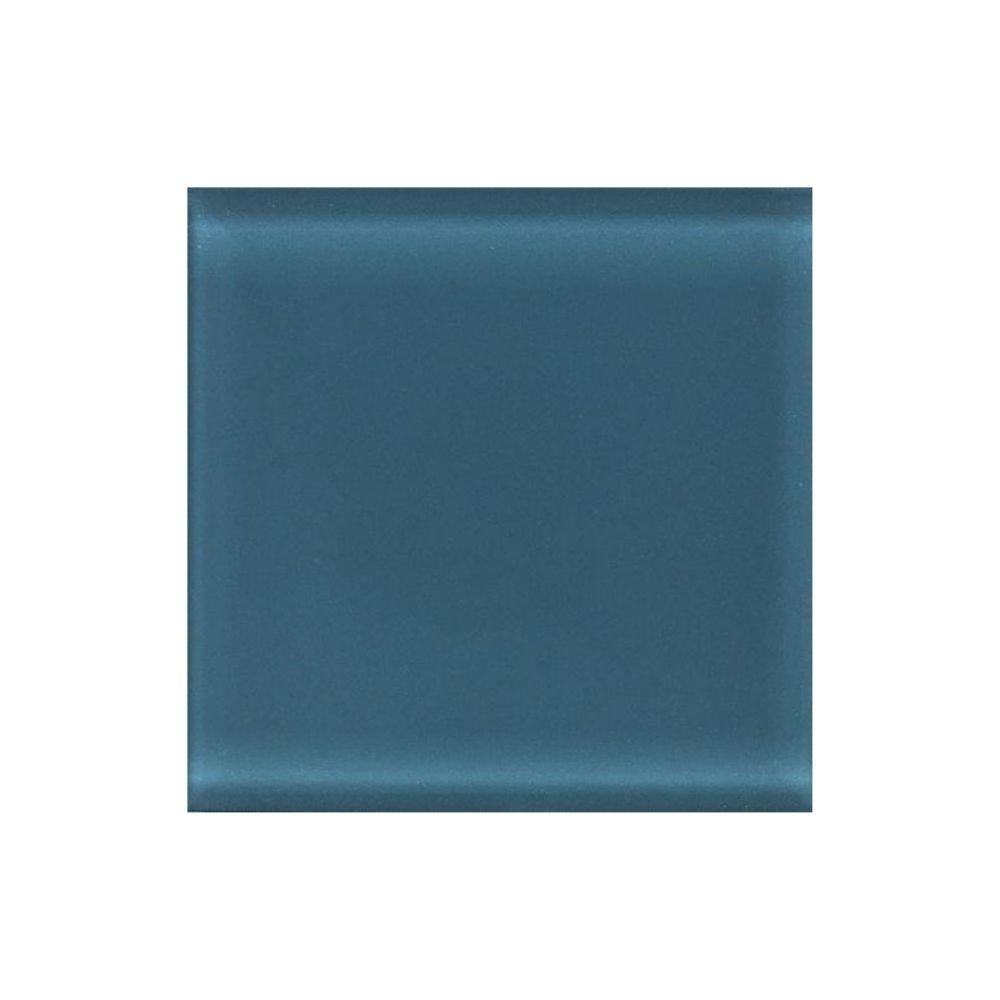 Daltile Circa Glass Midnight 4-1/4 in. x 4-1/4 in. Glass Wall Tile