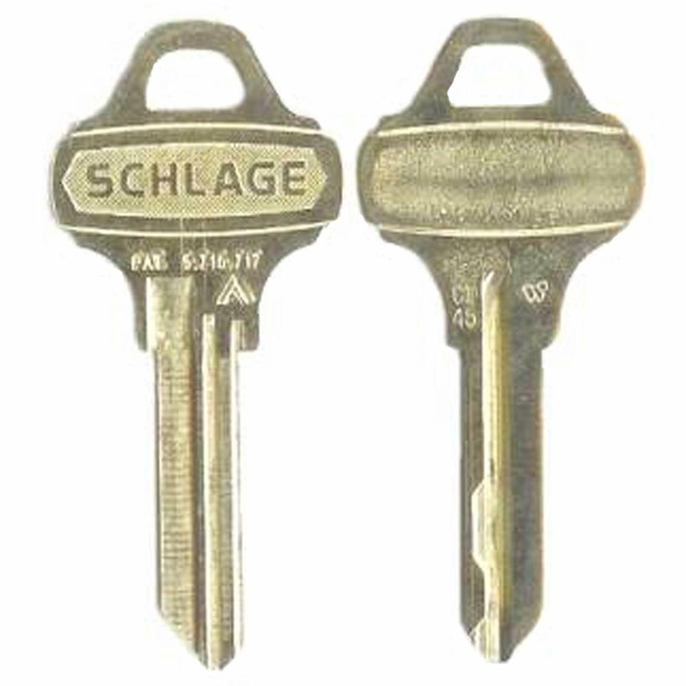 Schlage Nickle Silver House/Office Key-35-009-C145 - The Home Depot