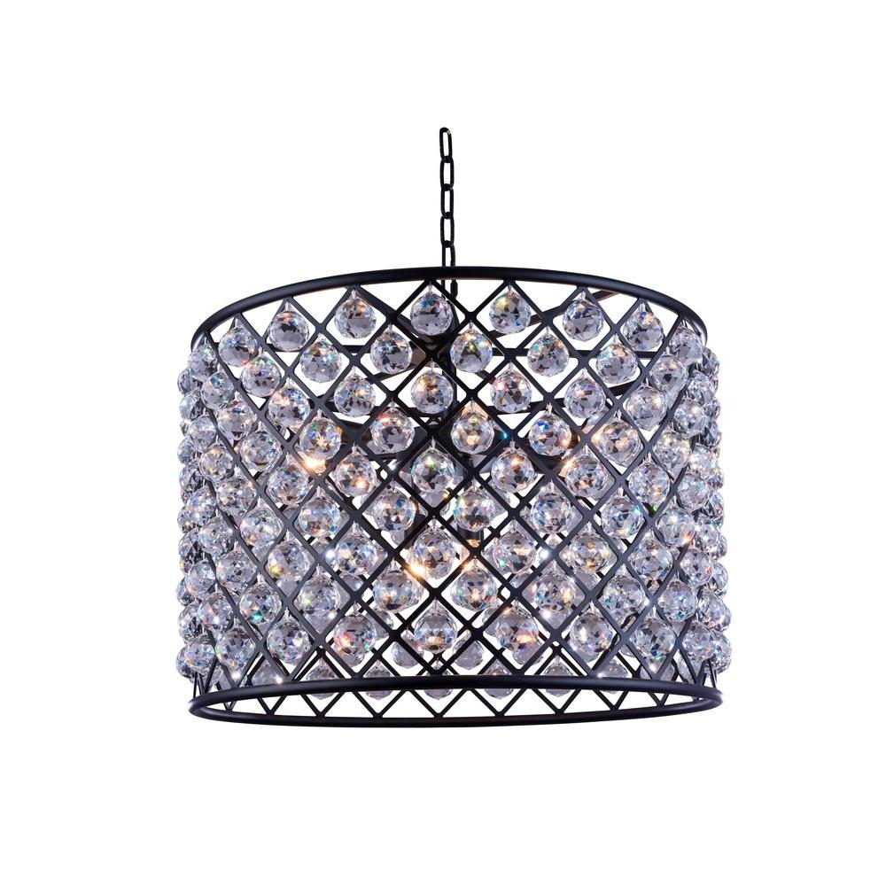 Madison 8-Light Mocha Brown Chandelier with Clear Crystal