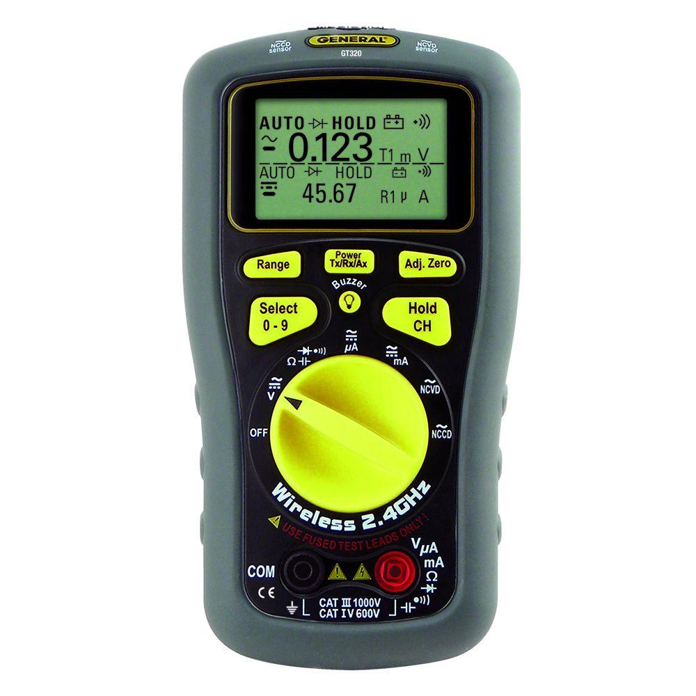 General Tools Wireless Data Logging Multi-Meter with Dot-Matrix LCD