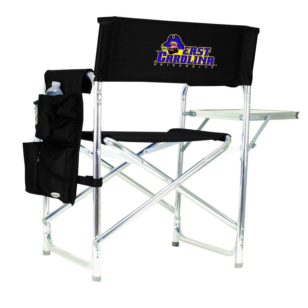 East Carolina University Black Sports Chair with Embroidered Logo