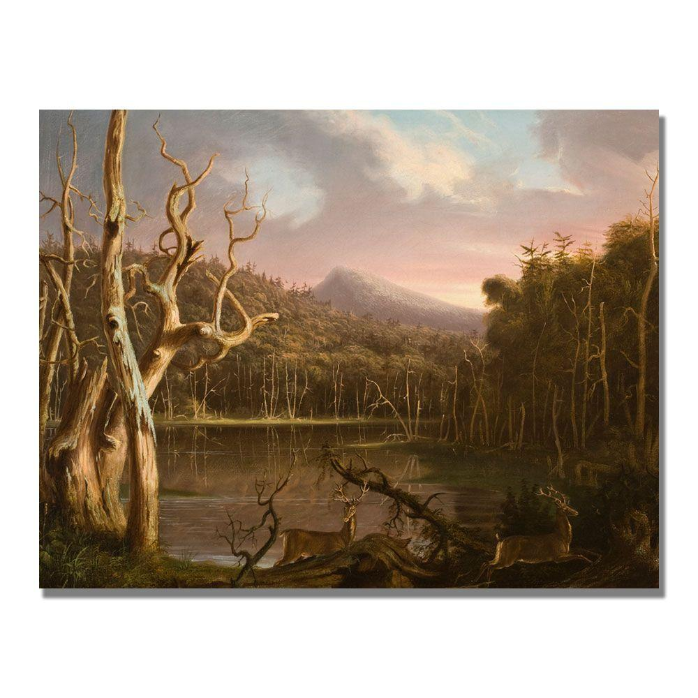 24 in. x 32 in. Lake with Dead Trees Canvas Art