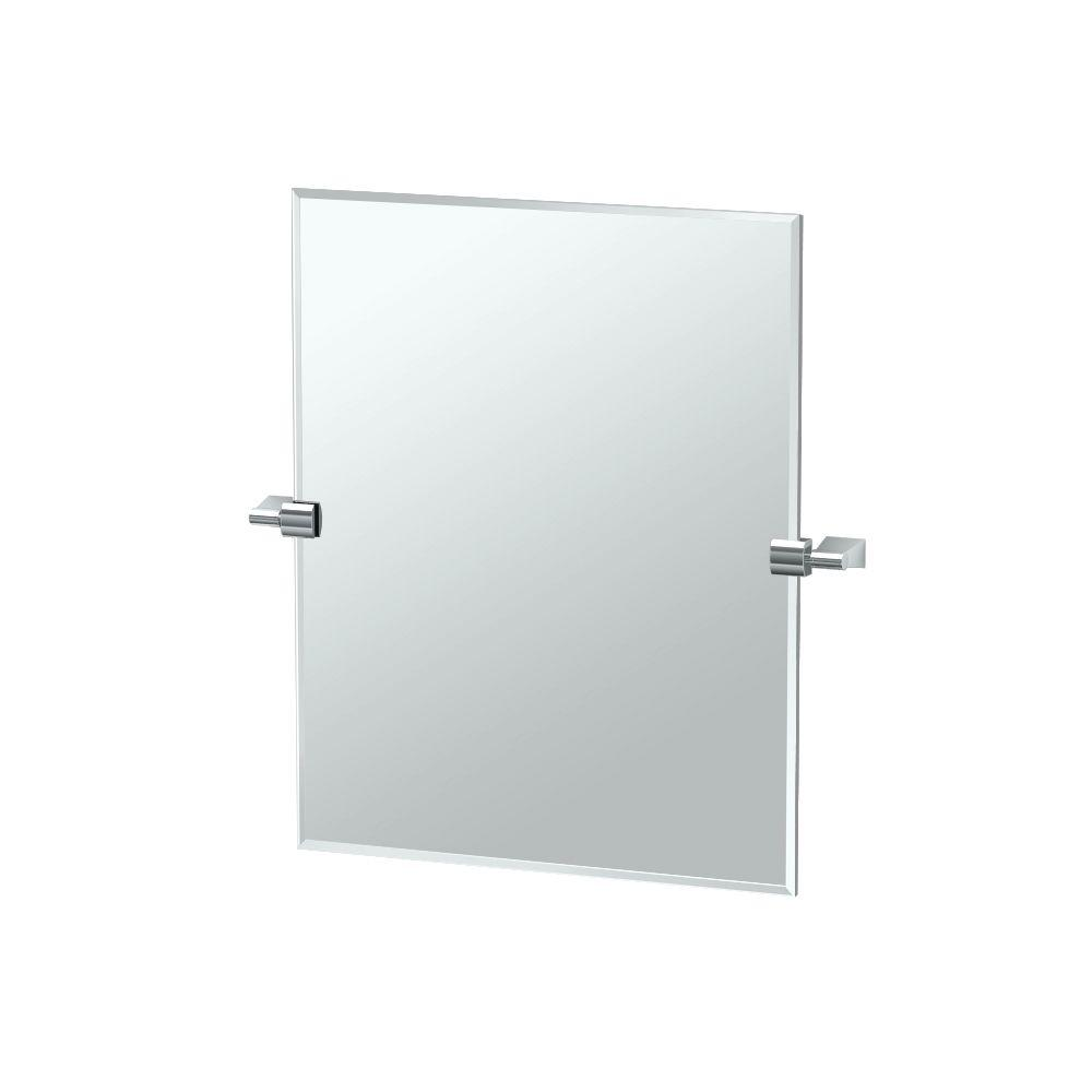 Bleu 24 in. x 24 in. Frameless Single Small Rectangle Mirror