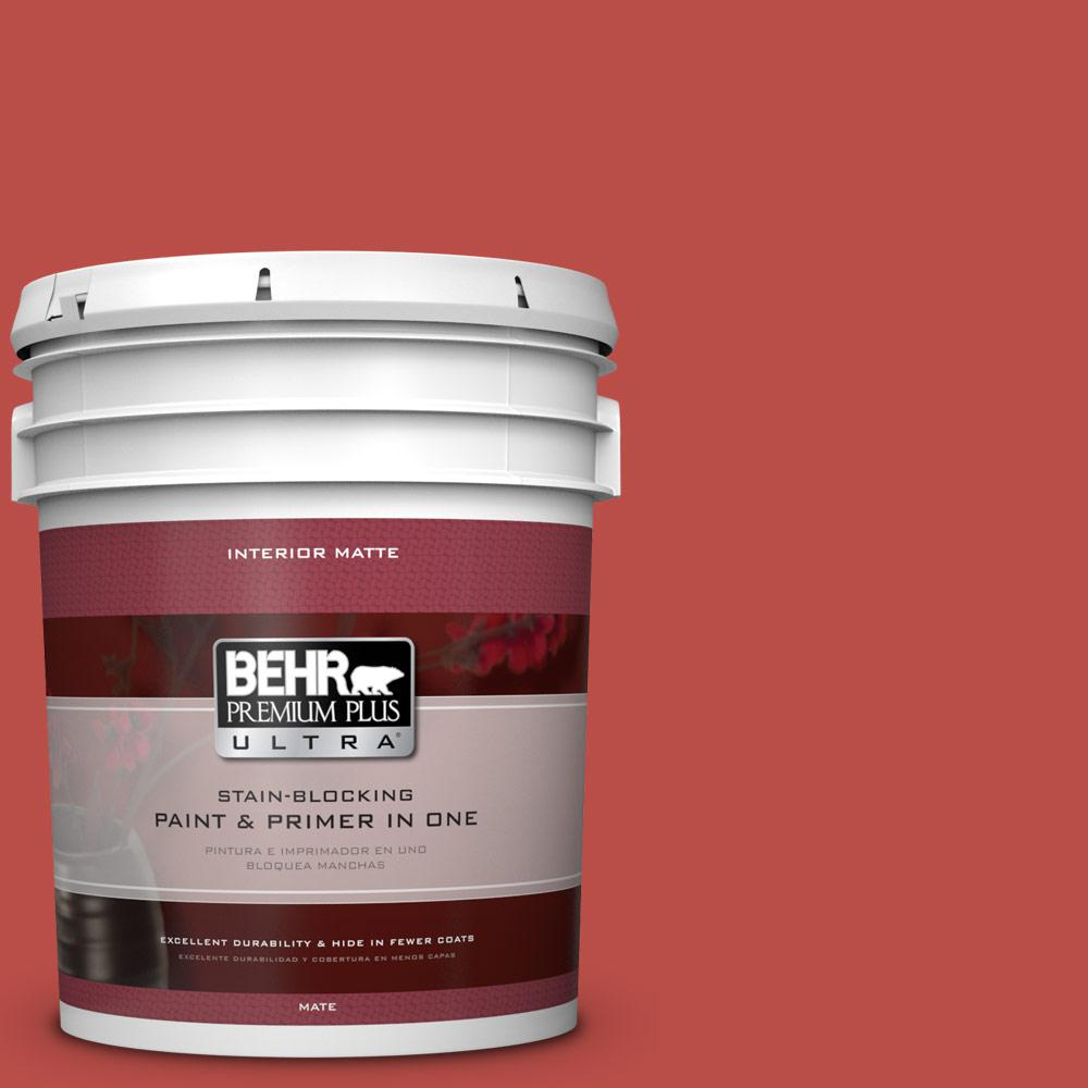 Home Decorators Collection 5 gal. #HDC-MD-16 Cherry Red Flat/Matte Interior