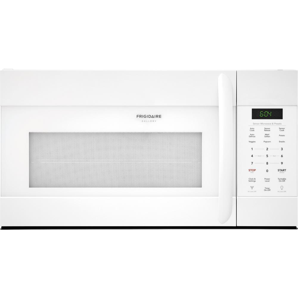 1.7 cu. ft. Over the Range Microwave in White with Sensor