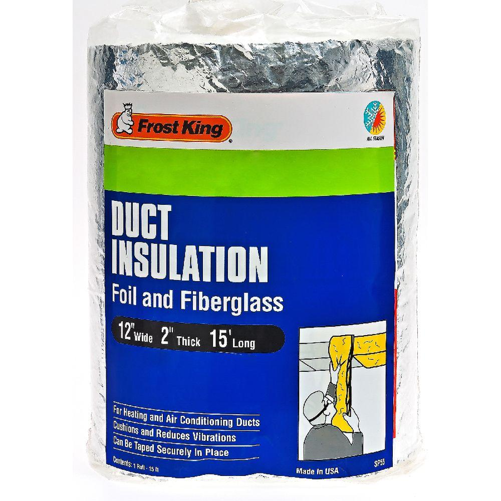 null E/O 12 in. x 15 ft. Foil and Fiberglass Duct Insulation