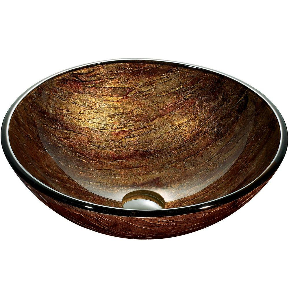 Amber Sunset Vessel Sink in Multi Colors