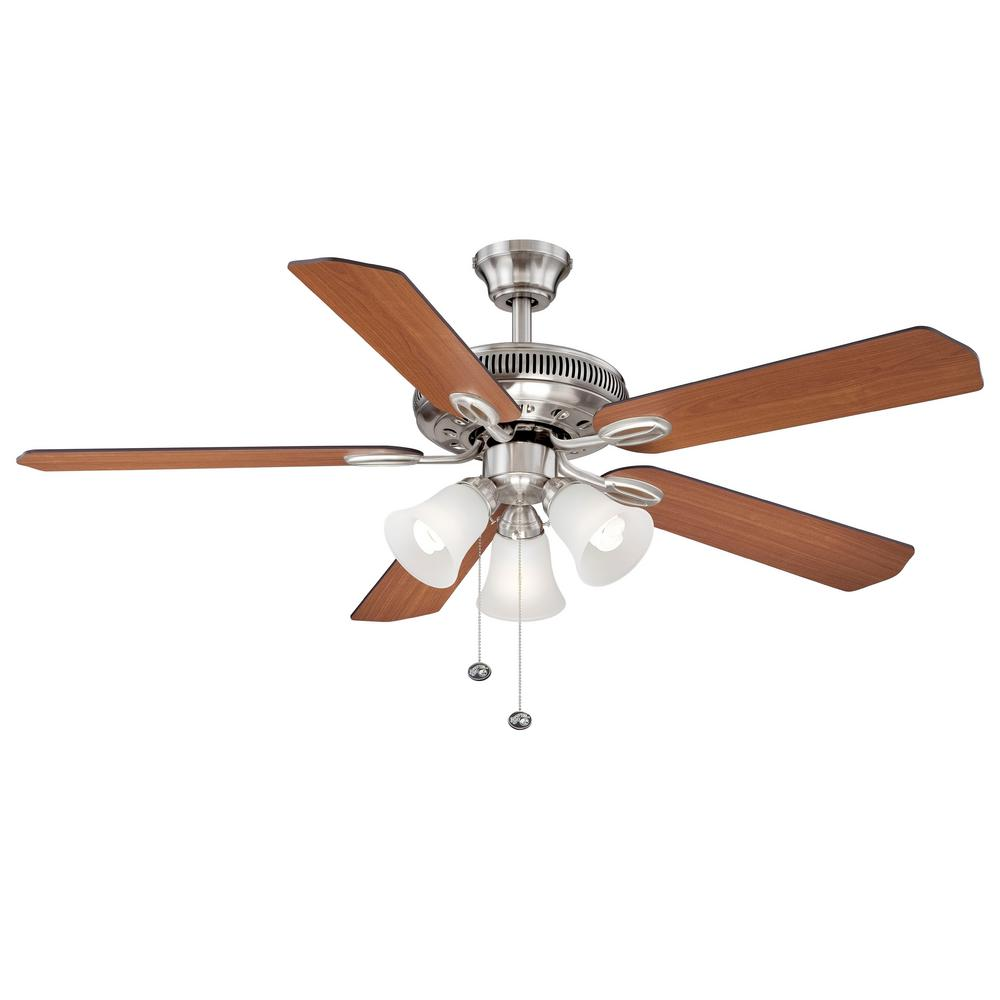 Brushed Nickel Ceiling Fan Home Decorators Collection