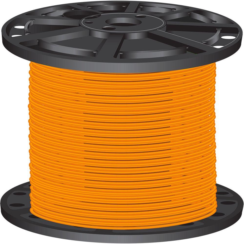 Southwire 2,500 ft. 10-Gauge Orange Solid CU SIMpull THHN Wire-11601205 -
