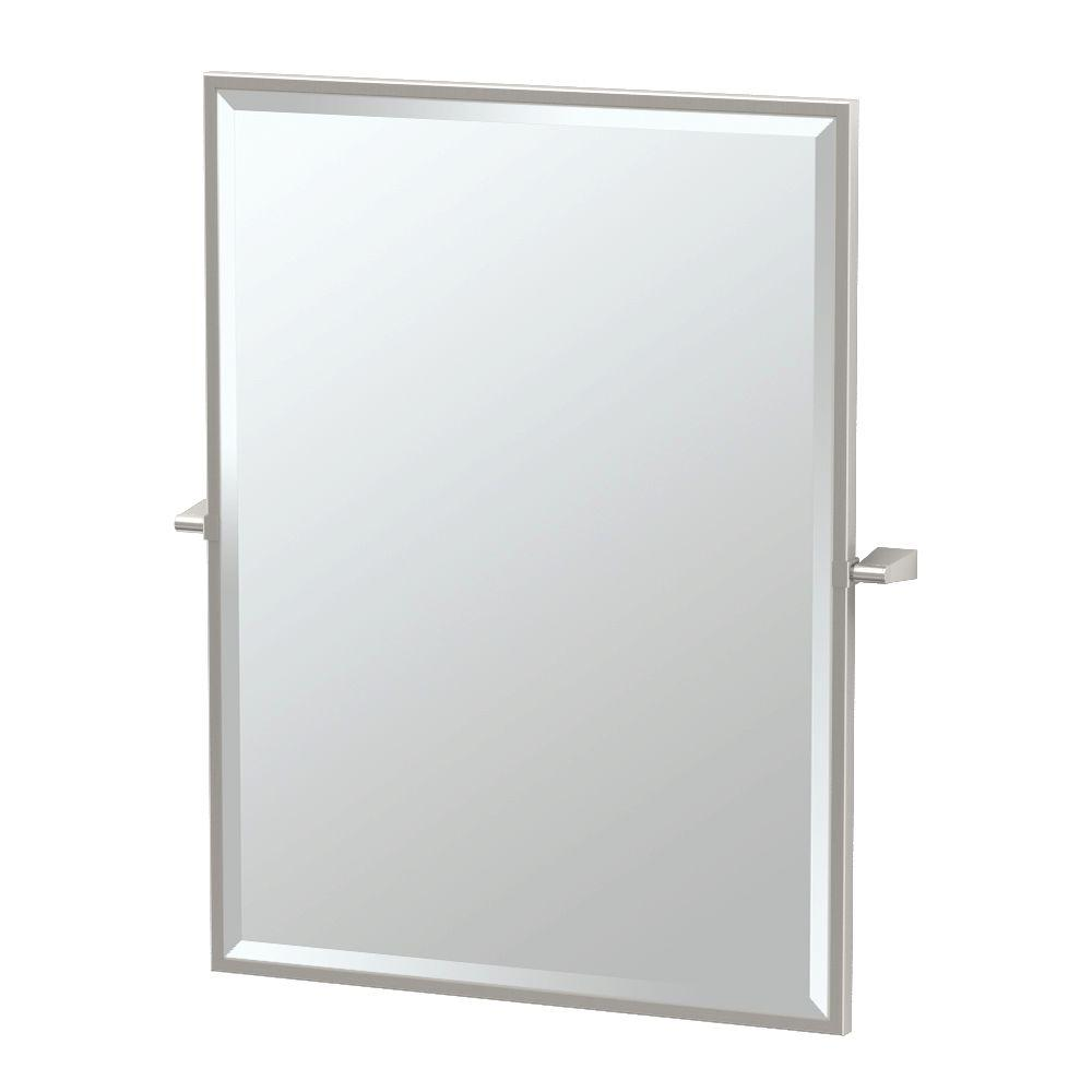 Bleu 27.50 in. x 32.50 in. Framed Single Large Rectangle Mirror