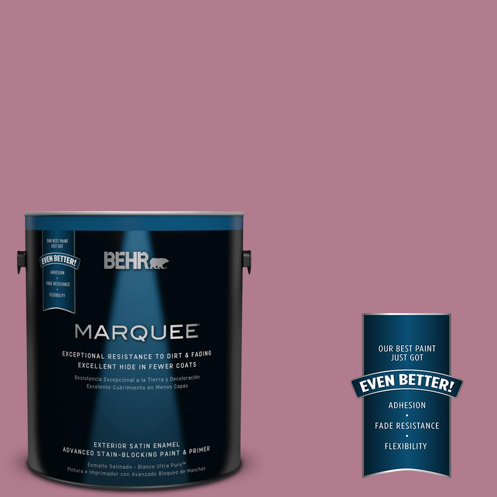 BEHR MARQUEE 1-gal. #100D-4 Degas Pink Satin Enamel Exterior Paint-945301 -